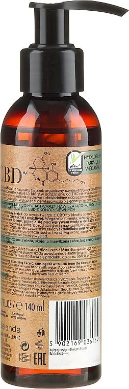 Nawilżająco-kojący olejek do mycia twarzy CBD z konopi siewnych - Bielenda CBD Cannabidiol Oil — фото N2