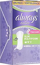 Wkładki higieniczne, 74 szt. - Always Dailies Fresh Scent Normal — фото N1