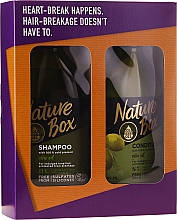 Kup Zestaw - Nature Box Olive Oil Set (shmp 385 ml + cond 385 ml)
