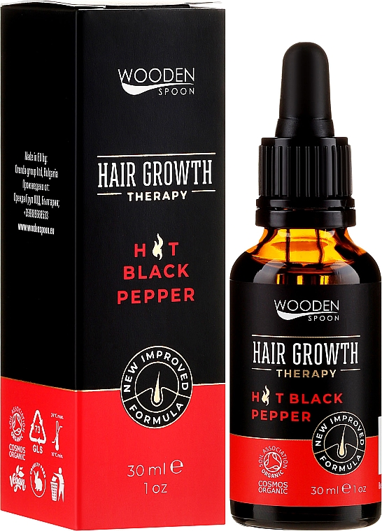 Serum na porost włosów Olej z nasion chili - Wooden Spoon Hair Growth Serum