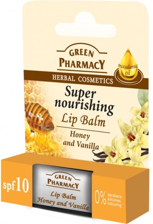 Intensywnie odżywczy balsam do ust Miód i wanilia - Green Pharmacy Honey And Vanilla Super Nourishing Lip Balm