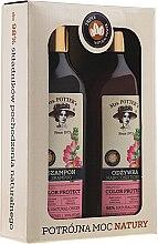 Kup Zestaw kosmetyków do włosów farbowanych Potrójna moc natury - Mrs. Potter's Triple Flower (shm 390 ml + cond 390 ml)