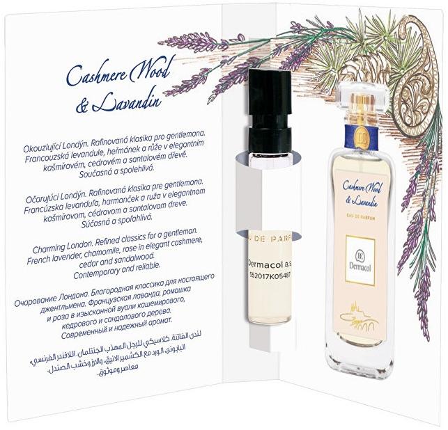 Dermacol Cashmere Wood And Levandin - Woda perfumowana (próbka) — фото N1