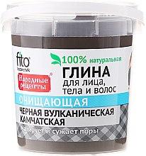 Kup Czarna kamczacka glinka oczyszczająca do twarzy, ciała i włosów - FitoKosmetik Przepisy ludowe