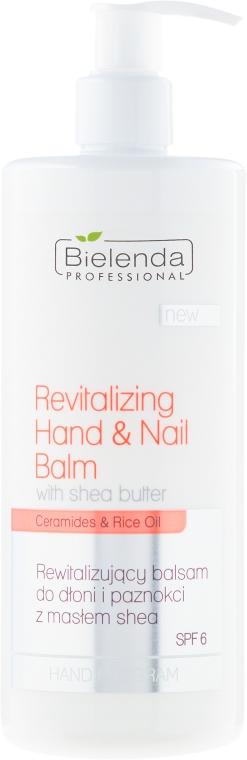 Rewitalizujący balsam do dłoni i paznokci z masłem shea SPF 6 - Bielenda Professional Hand Program Revitalizing Hand & Nail Balm