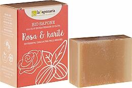 Kup Odżywcze mydło w kostce z oliwą Róża i karite - La Saponaria Rose & Shea Butter Soap