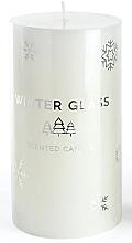 Kup Świeca zapachowa, biała, 7 x 13 cm - Artman Winter Glass