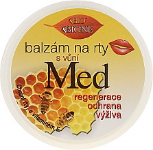Kup Balsam do ust z mleczkiem pszczelim i koenzymem Q10 - Bione Cosmetics Honey + Q10 With Vitamin E and Bee Wax Lip Balm