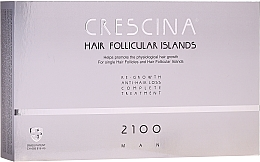 Kup Kuracja dla mężczyzn stymulująca odrastanie włosów i zapobiegająca ich wypadaniu 2100 - Crescina Hair Follicular Island Re-Growth Anti-Hair Loss Complete Treatment 2100 Man