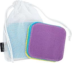 Kup Gąbki wielokrotnego użytku do demakijażu w woreczku do prania ToFace - Makeup Remover Sponge Set Multicolour & Reusable
