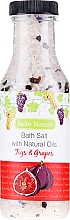 Kup Sól do kąpieli z naturalnymi olejkami Figa i winogrono - Belle Nature Bath Salt
