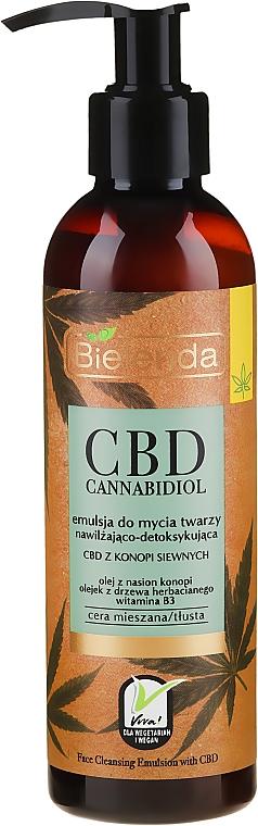 Nawilżająco-detoksykująca emulsja do mycia twarzy CBD z konopi siewnych - Bielenda CBD Cannabidiol Emulse