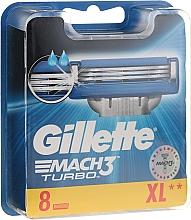 Wymienne ostrza do maszynki, 8 szt. - Gillette Mach3 Turbo — фото N1
