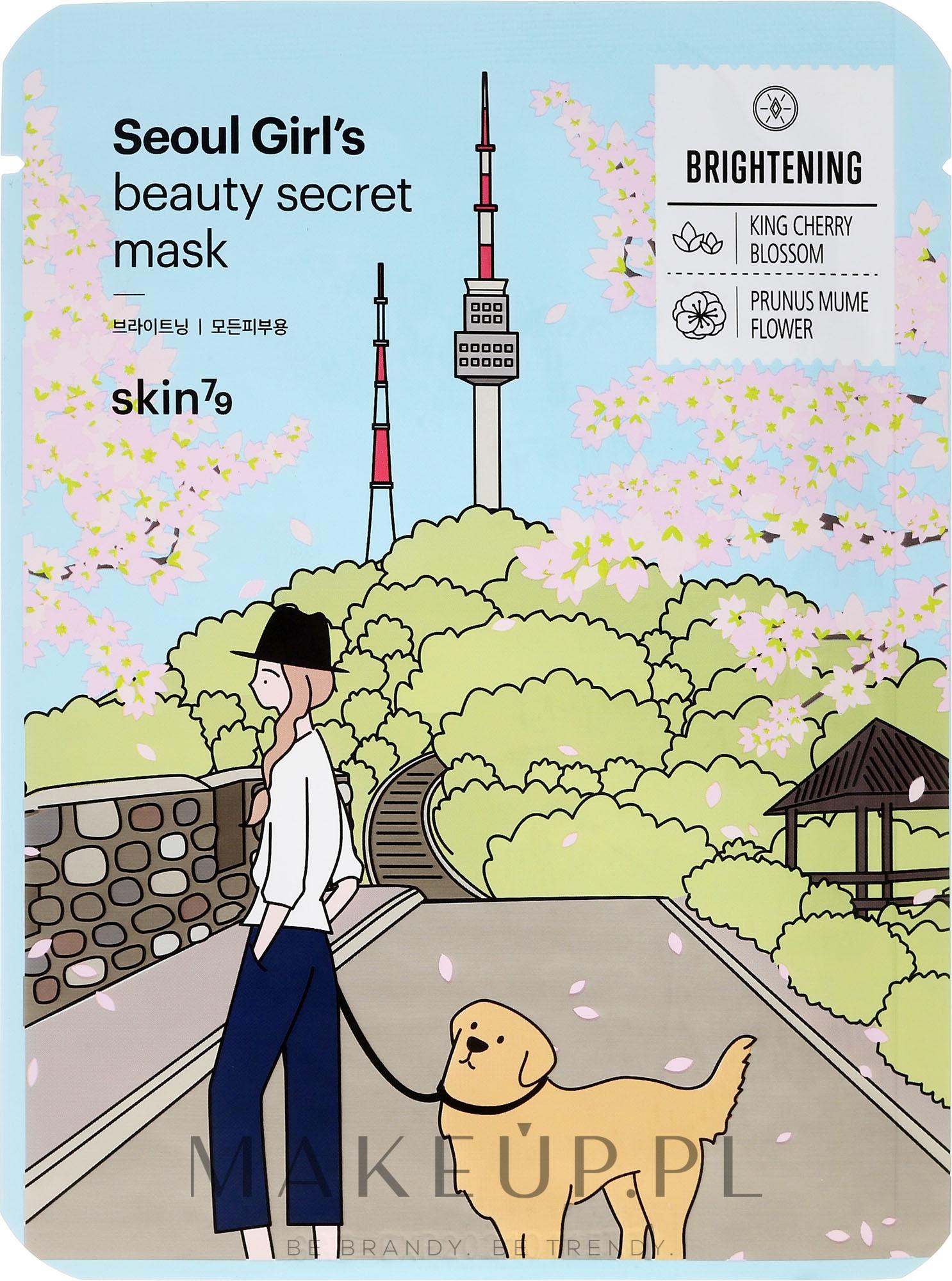 Rozjaśniająca maska na tkaninie do twarzy - Skin79 Seoul Girl's Beauty Secret Mask Brightening — фото 20 ml