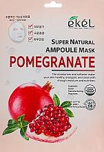 Kup Maska na tkaninie do twarzy z ekstraktem z granatu - Ekel Super Natural Ampoule Pomegrante