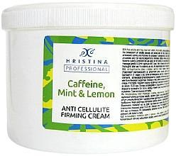 Kup Antycellulitowy krem z kofeiną, miętą i cytryną - Hristina Professional Caffeine, Mint & Lemon Anti Cellulite Firming Cream