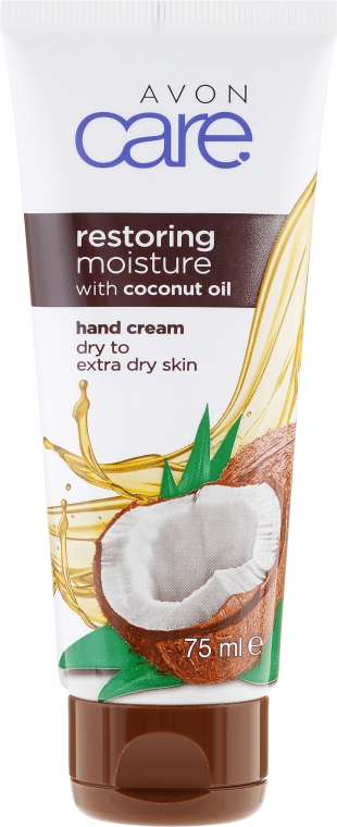 Odbudowujący krem nawilżający do rąk z olejem kokosowym - Avon Care Restoring Moisture Hand Cream With Coconut Oil