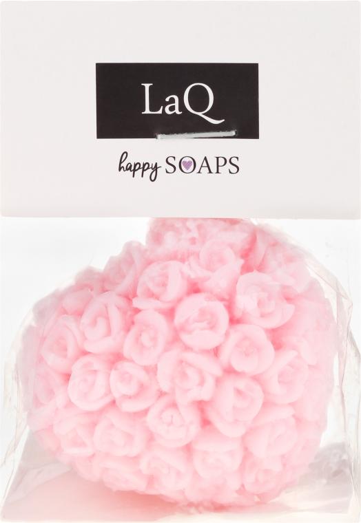 Naturalne mydło ręcznie robione o zapachu wiśniowym Serce w różyczki - LaQ Happy Soaps