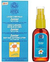 Kup Spray do rozjaśniania włosów na ciele z wyciągiem z rumianku dla dzieci 6-14 lat - Intea Premium Junior Body Hair Lightening Spray With Natural Camomile Extract