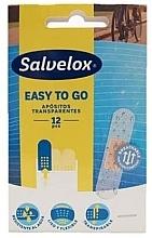 Kup Przezroczyste plastry opatrunkowe, 12 szt. - Salvelox Easy To Go Transparent