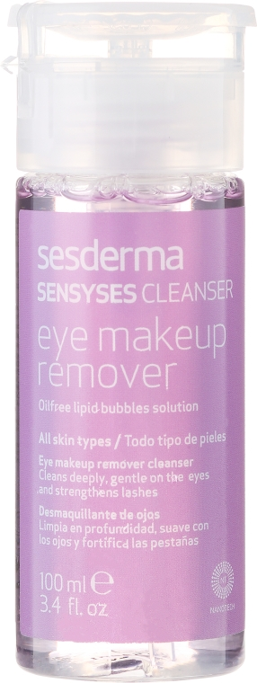 Bezolejowy płyn do demakijażu oczu - Sesderma Laboratories Sensyses Cleanser MakeUp Remover For Eyes — фото N1