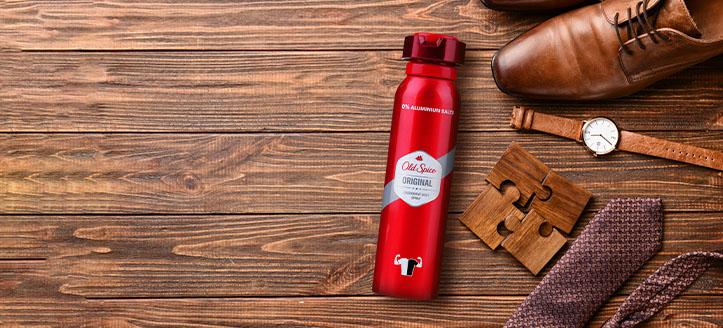 Odbierz w prezencie dezodorant w sprayu dla mężczyzn, przy zakupie produktów Old Spice za min. 40 zł