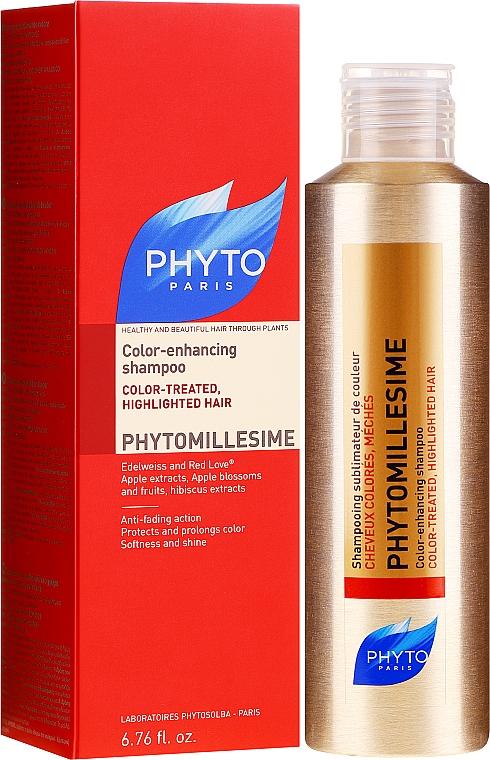 Szampon upiększający kolor włosów farbowanych - Phyto Phytomillesime Color-Treated Shampoo