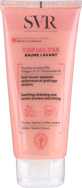 Kojący balsam oczyszczający do skóry bardzo suchej i atopowej - SVR Topialyse Baume Lavant