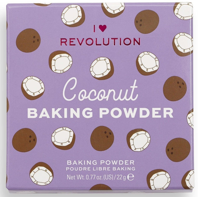 Sypki puder kokosowy do twarzy - I Heart Revolution Loose Baking Powder Coconut — фото N2