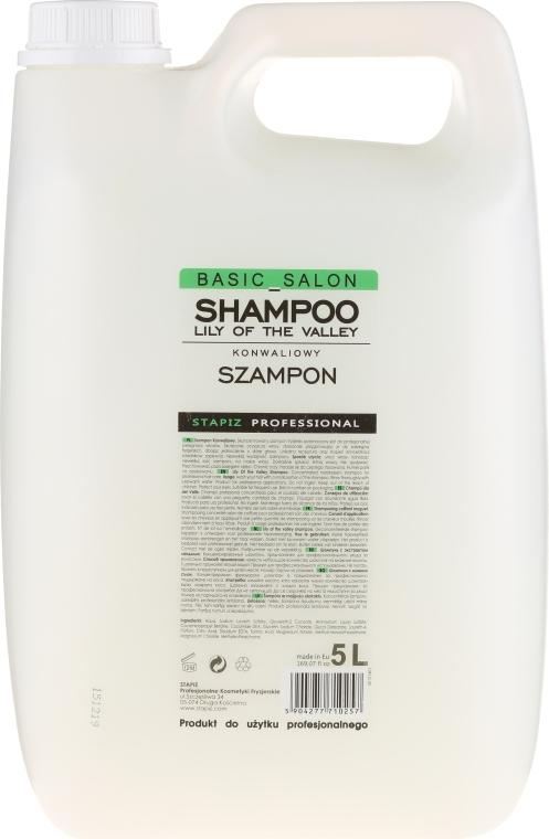 Konwaliowy szampon do włosów - Stapiz Basic Salon Shampoo Lily Of The Valley — фото N2