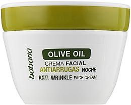 Kup Przeciwzmarszczkowy krem na noc z oliwą z oliwek - Babaria Anti-Wrinkle Face Cream Night with Olive Oil