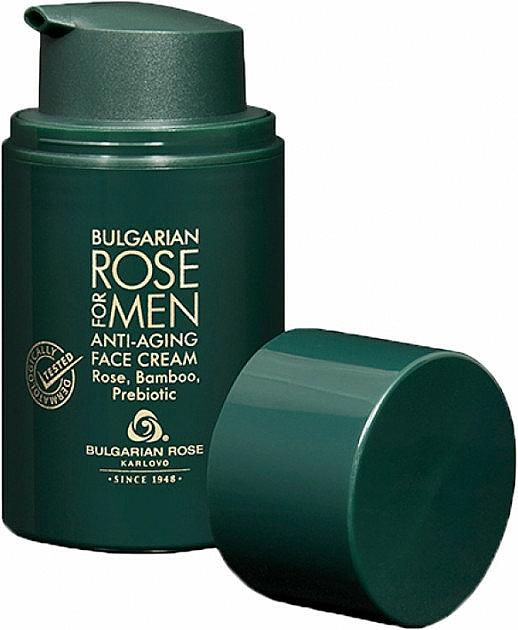 Krem przeciwstarzeniowy dla mężczyzn - Bulgarian Rose For Men Anti-Agin Face Cream — фото N1