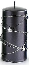 Kup Świeca dekoracyjna, czarny walec, 7 x 14 cm - Artman Christmas Garland