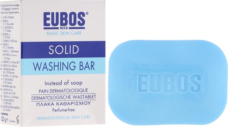 Bezalkaiczna kostka bezzapachowa do mycia - Eubos Med Basic Skin Care Solid Washing Bar — фото N1