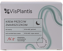 Kup PRZECENA! Krem do twarzy na noc przeciw zmarszczkom SYN-AKE jad żmii - Vis Plantis Age Killing Effect Anti-Wrinkle Face Cream *