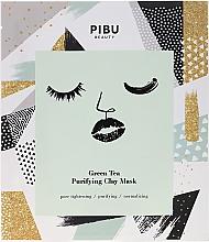 Kup Oczyszczająca maseczka w płacie z glinką Zielona herbata - Pibu Beauty Green Tea Purifying Clay Mask