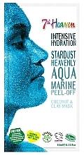 Kup Brokatowa maseczka do twarzy Glinka kaolinowa i kokos - 7th Heaven Stardust Heavenly Aqua Marine Peel-Off Coconut & Clay Mask
