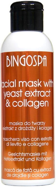 Oczyszczająca maska do cery tłustej Ekstrakt z drożdży piwnych i kolagen - BingoSpa Mask With Brewer's Yeast Extract And Collagen — фото N1