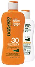 Kup PRZECENA! Zestaw - Babaria Sun Set (protect milk/200ml+protect/lot/100ml) *