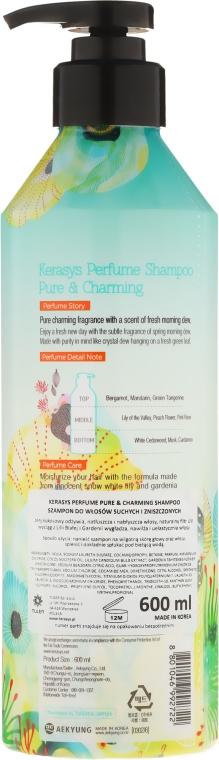 Perfumowany szampon do włosów suchych i zniszczonych - KeraSys Pure & Charming Perfumed Shampoo — фото N2