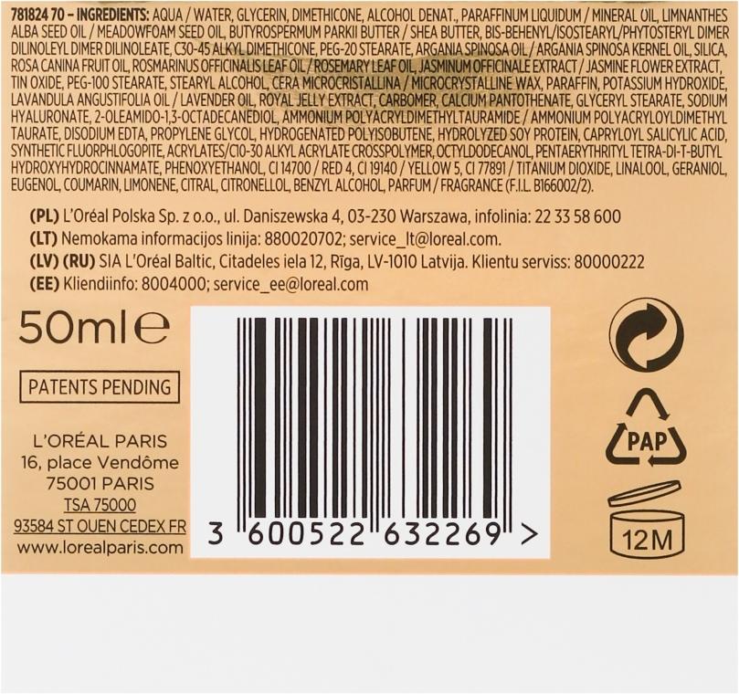 Odżywczy krem-olejek do skóry suchej - L'Oreal Paris Nutri Gold Cream-Oil — фото N2
