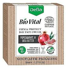 Kup Krem do twarzy na dzień Granat i masło shea 45+ - DeBa Bio Vital Firm and Protect Day Face Cream with Pomegranate Extract