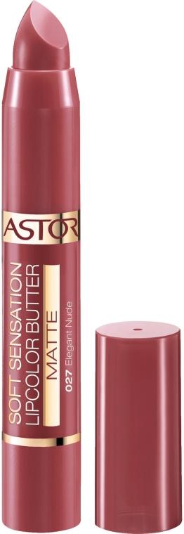 Matowa szminka w kredce - Astor Soft Sensation Lipcolor Butter Matte