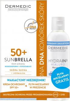 Zestaw do skóry suchej i normalnej - Dermedic Sunbrella (cr/50g + water/100ml) — фото N1