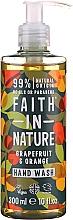 Kup Mydło w płynie do rąk z Grejpfrut i pomarańcza - Faith in Nature Grapefruit & Orange Hand Wash
