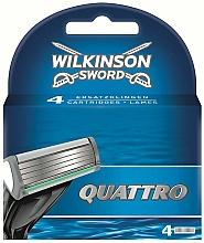 Kup Wymienne wkłady do maszynki do golenia, 4 szt. - Wilkinson Sword Quattro Cartridge Razor Blades