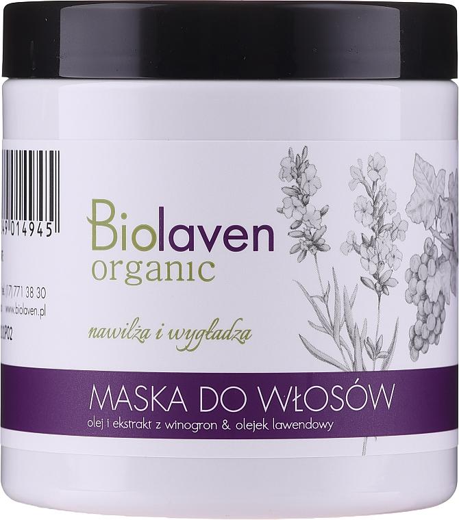 Maska do włosów z olejkiem i ekstraktem z winogron i olejkiem lawendowym - Biolaven Organic Hair Mask