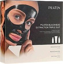 Kup Zestaw do oczyszczania i pielęgnacji twarzy - Pilaten Hydra- (mask 60 g + ton 30 ml + lot 30 ml)
