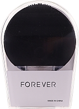 Szczoteczka do mycia twarzy, czarna - Forever Lina Facial Cleansing Brush Black — фото N1
