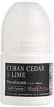 Kup Bath House Cuban Cedar & Lime - Dezodorant w kulce dla mężczyzn